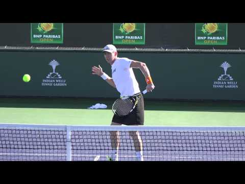 03 07 2015 John Patrick Smith practicing at Indian Wells 4K