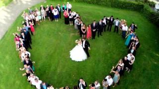 Hochzeitsherz + Drohne - Hochzeitsfeier - Wedding Video (drone, dji, phantom 2, gopro 3+)