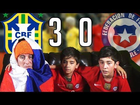 REACCION BRASIL 3 VS CHILE 0 - QUEDAMOS FUERA DE LA COPA DEL MUNDO RUSIA 2018