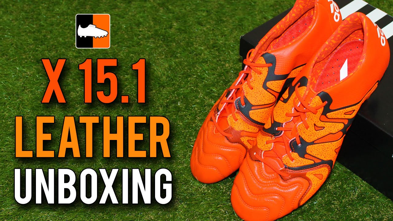 5f12149ef Red adidas X 15.1 Leather Unboxing - Solar Orange/Black/Bold Orange -  YouTube