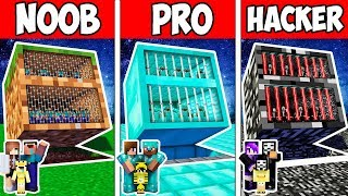 Minecraft Noob Vs Pro Vs Hacker  Family Block Secret Prison Adventure In Minecraft  Animation
