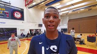 Jalen Washington: 2019 USA Basketball Junior Minicamp Interview