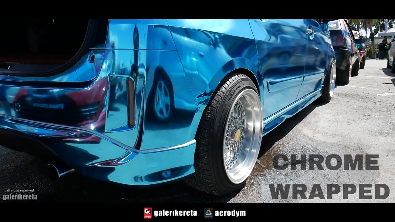 Perodua Alza Sky Blue Chrome Wrapped - Sunroof Gathering 3 ...