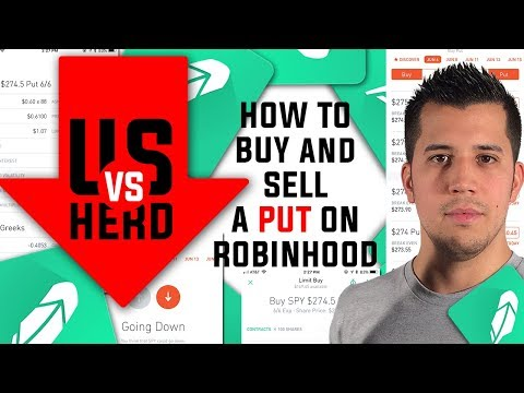 How To Buy And Sell A Put Option On Robinhood App Options Trading