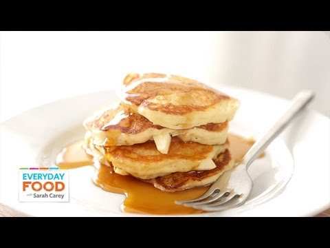 Apple-Buttermilk Pancakes Everyday Food with Sarah Carey