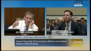 Rep. Jim Jordan (R-OH) Q/A with FBI Director James Comey
