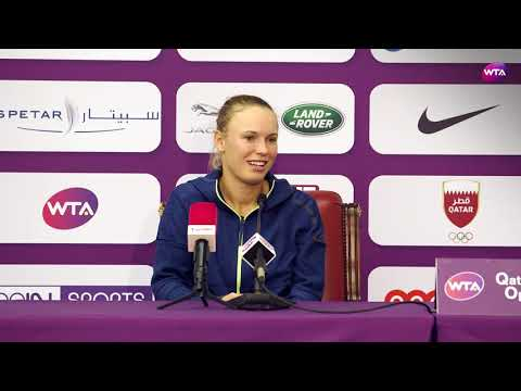 2018 Qatar Open press conference: Caroline Wozniacki isn't phased by the windy conditions