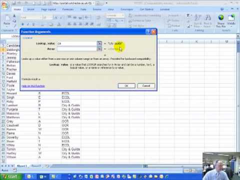Using the LookUp Function in Excel 2007