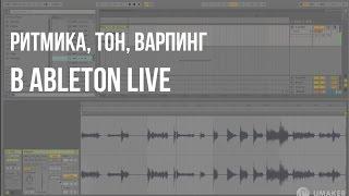 Как изменить ритмику лупа маркерами, высоту тона – варпинг в Ableton live