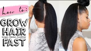 How To GROW HAIR Long, Thick & Healthy FAST! (4 easy steps)