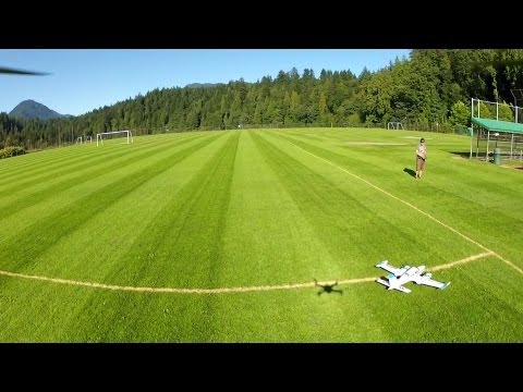 DJI 450 Quadcopter onboard at RC field