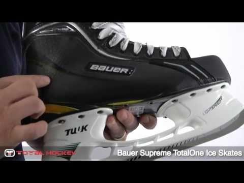 Bauer Supreme TotalOne Ice Skate - YouTube