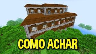 COMO ACHAR UMA MANSÃO EM MENOS DE 1 MINUTO - Minecraft Pocket Edition