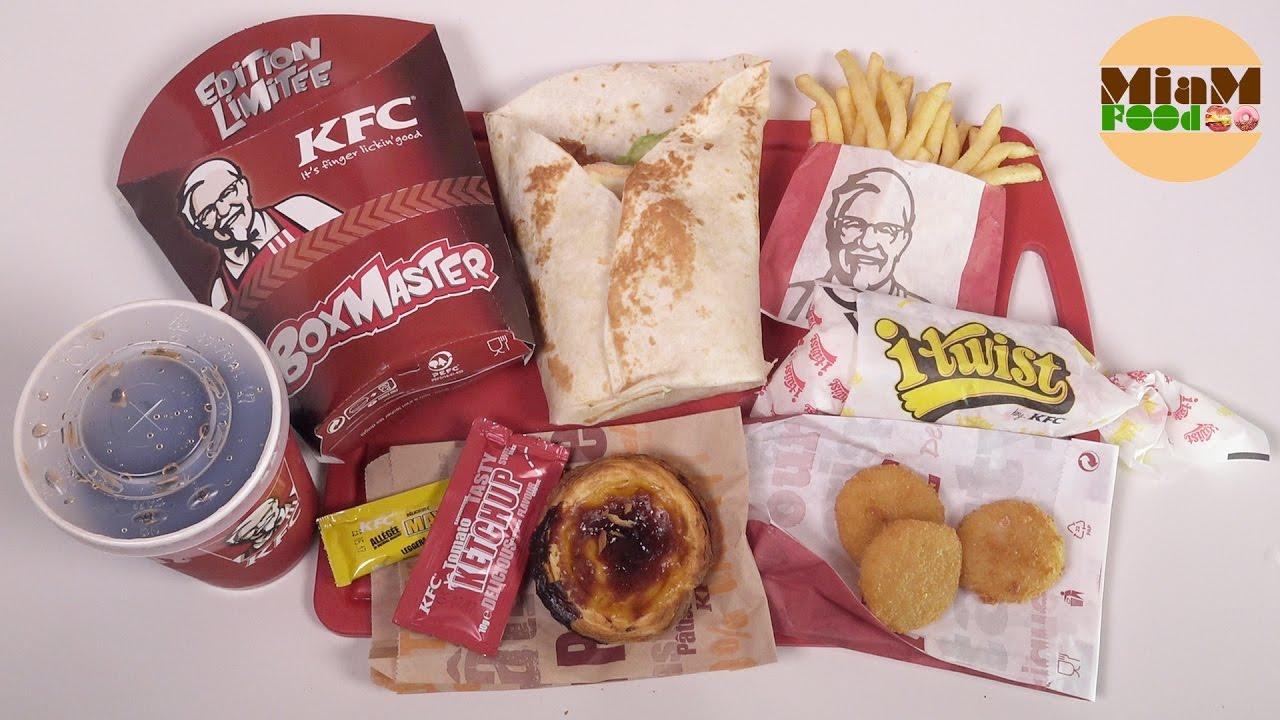 KFC Menu Boxmaster Freestyle Raclette & Bacon, i-Twist ...