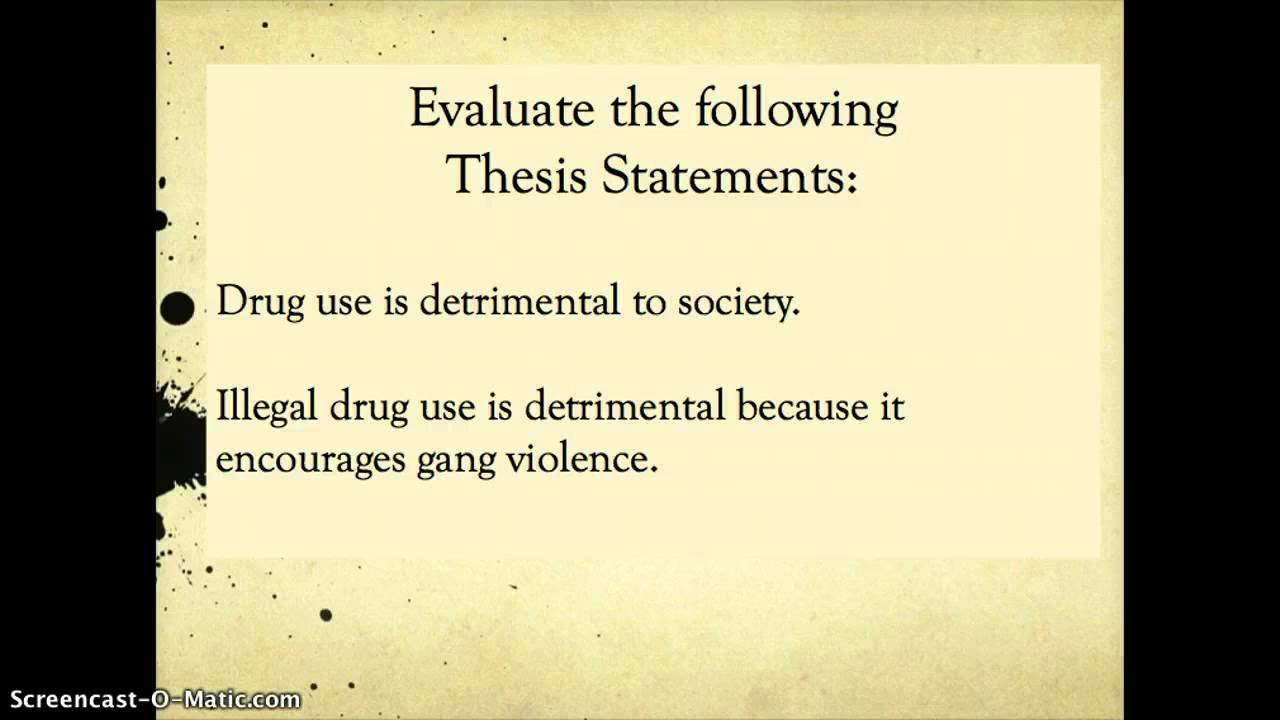 Thesis Statements   YouTube