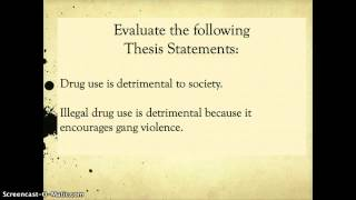 Topic Sentences vs. Thesis Statements