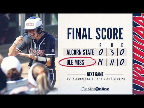 HIGHLIGHTS   Ole Miss defeats Alcorn State 14-0 (Game 1) 04-24-18 #WAOM #FinsUpRebels