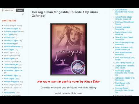 How To Download Novels Pdf From Famous Urdu Novels Youtube