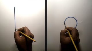 How to draw a perfect line and circle using brush and color.