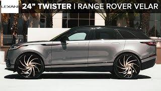 """CUSTOM RANGE ROVER VELAR on 24"""" Twister LEXANI Wheels (Copper Finish)"""