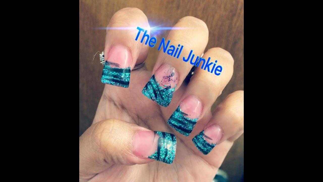 Duck feet Acrylic nails Mystic Fairy 💙 - YouTube