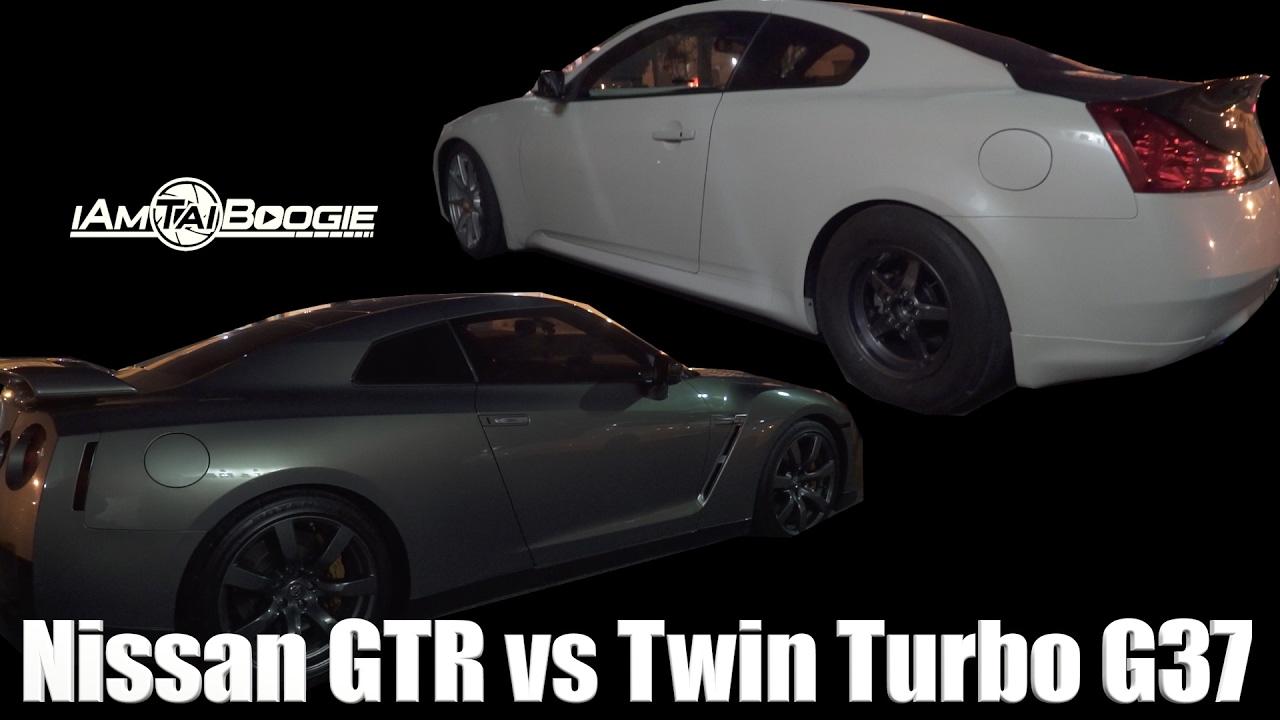 Nissan Gtr Vs Twin Turbo Infiniti G37 G37 Almost Smack Gtr Youtube