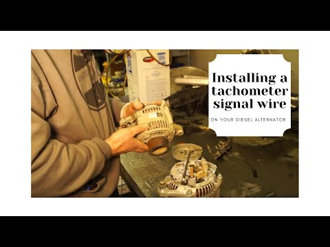 How to Install a Tachometer Signal Wire on your Diesel Alternator