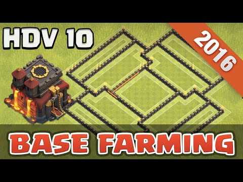 TOP Base HDV 10 Farming   Clash Of Clans Français
