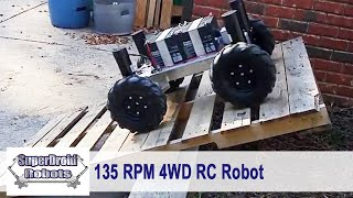 Robot Versus Steep Incline! WC800 DM4 Platform by SuperDroid Robots