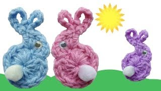 Easter Bunny & Babies Fridgies Free Crochet Pattern - Right Handed
