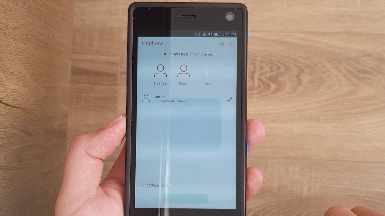 Linphone - SIP client for Ubuntu Touch