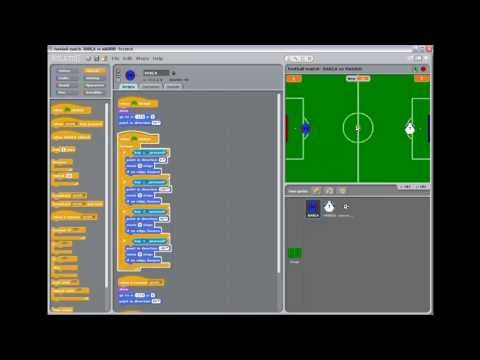 Scratch game project - a football match Barcelona vs Madrid