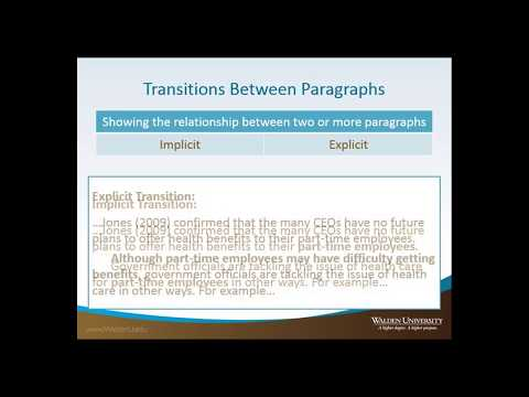 Paragraph Transitions | Paragraph | Sentence (Linguistics)