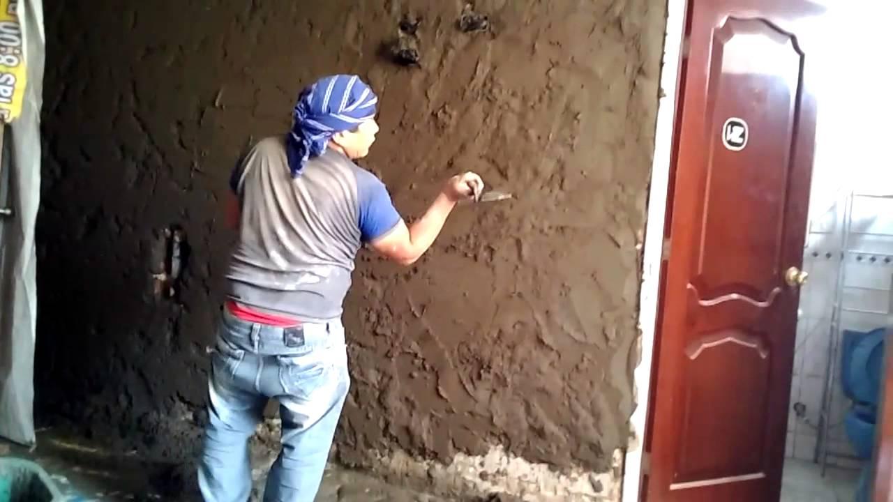 Como tarrajear o revocar una pared con cemento parte 04 08 for Paredes sin revocar