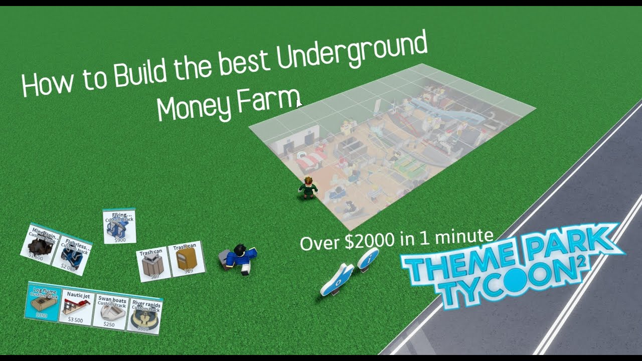 Download How to Build the Best Underground Money Farm   Theme Park Tycoon 2