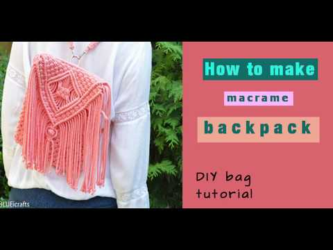 How to make macrame backpack / macrame bag / boho bag - DIY bag tutorial - EN / PL