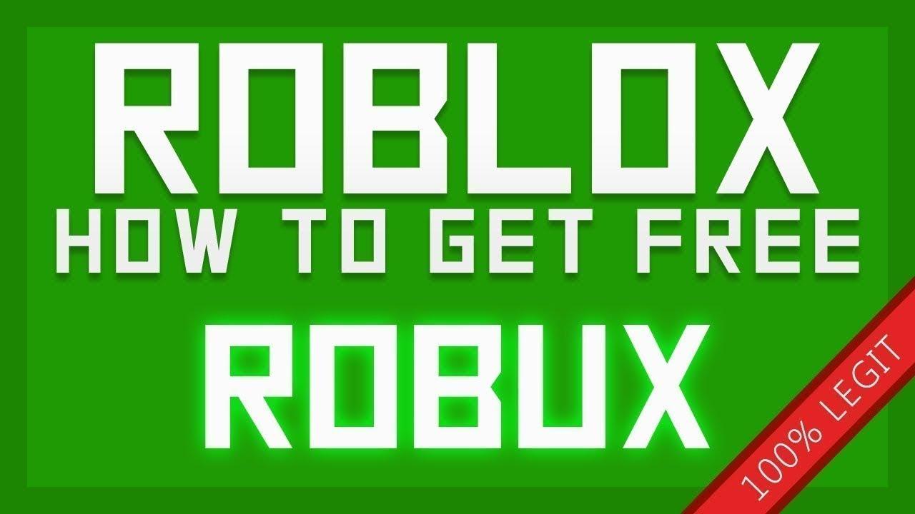 How To Get Free Robux No Joke 100 Legit Youtube