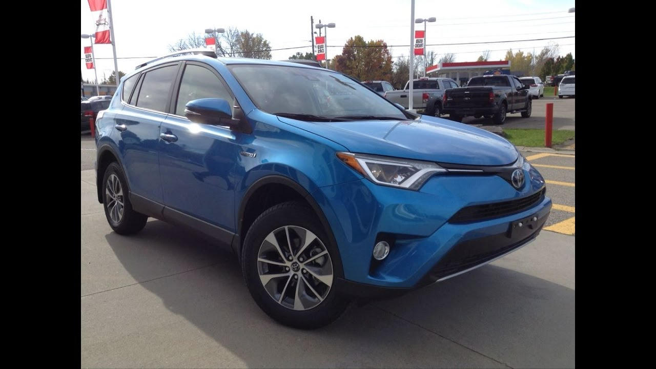 New 2017 Toyota Rav4 Hybrid Xle Review Electronic Storm Blue 1000 Islands Brockville