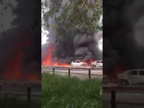 Fuel tanker explosion in Festac town Lagos