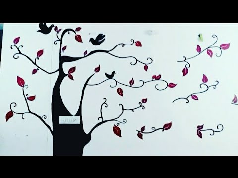 Beautiful wall painting Easy and superb design by NEELAM SINGH