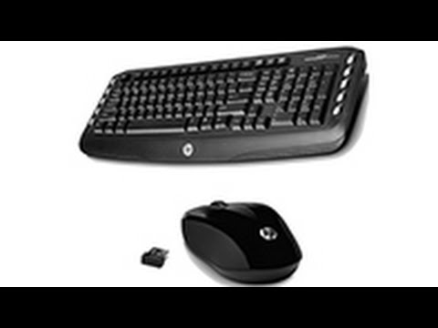 Combo Wireless Keyboard and Optical Mouse HP Classic Desktop Black