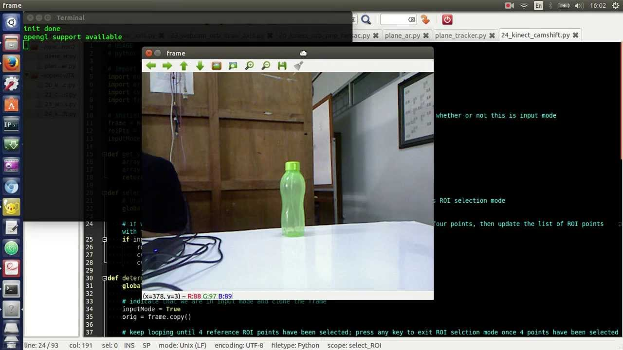 1  Object Tracking Using Camshift (OpenCV + Python)