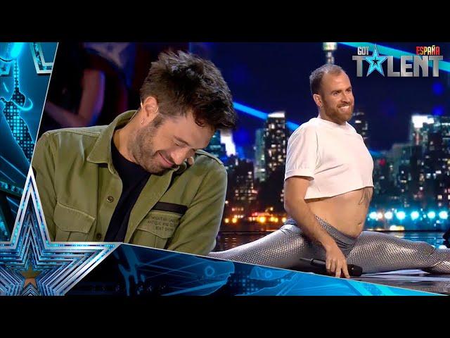 Este ITALIANO no convence al jurado cantando RAFAELLA CARRÀ   Audiciones 6   Got Talent España 2021