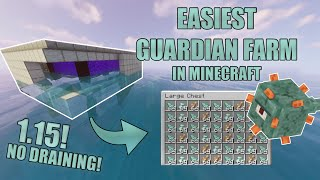 EASY and SMALLEST GUARDIAN farm in Minecraft! 1.16