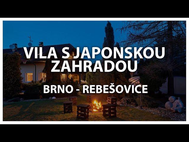 PRODÁNO: Rodinný dům s japonskou zahradou v Rebešovicích u Brna