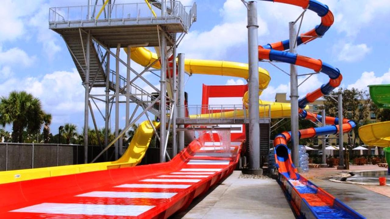 Top20 Hotels With Water Slides Or Aqua Park In Orlando Disney World Area Florida Usa