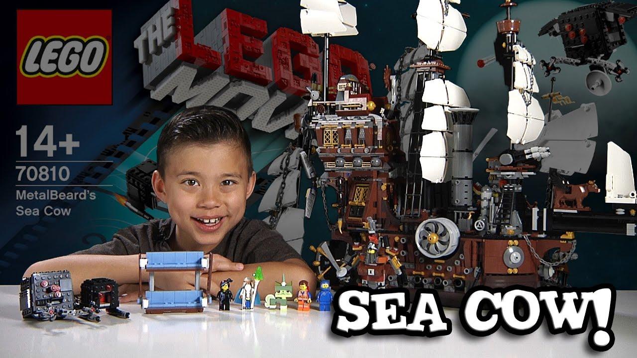 Metalbeard S Sea Cow Lego Movie Set 70810 Time Lapse Build Stop Motion Unboxing Review Youtube