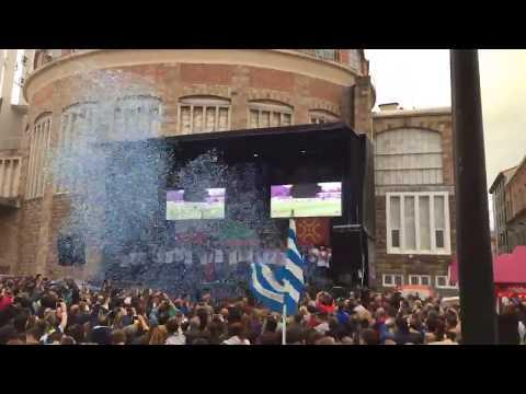 Torrelavega celebra el ascenso de la Gimnástica a Segunda B