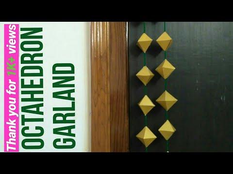 Octahedron Garland DIY