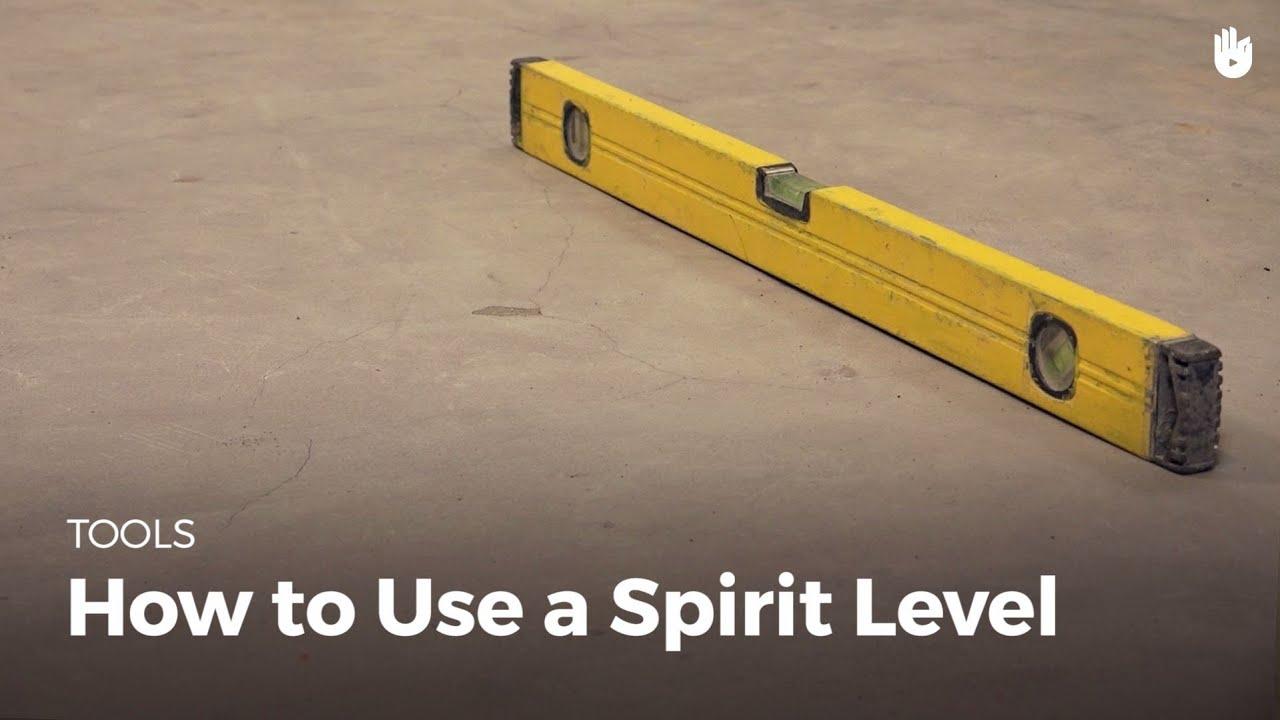 How to Use a Spirit Level  Masonry  YouTube
